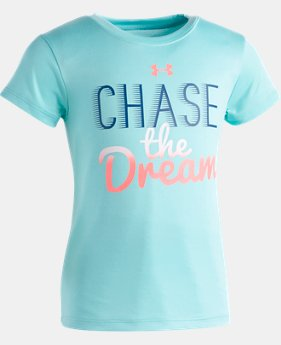 New Arrival Girls' Toddler UA Chase The Dream T-Shirt   1  Color Available $18