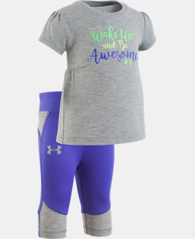 New Arrival Girls' Infant UA Wake Up And Be Awesome Set   1 Color $35