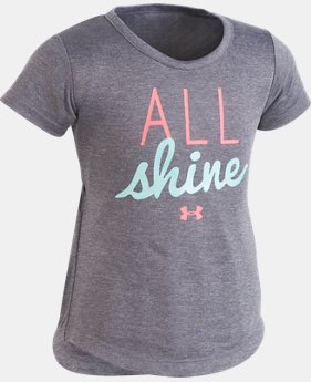 New Arrival Girls' Infant UA All Shine T-Shirt  FREE U.S. SHIPPING 1  Color Available $20