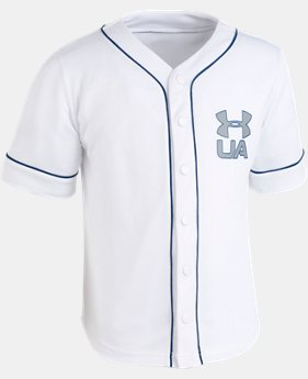 New Arrival Boys' Toddler UA Homerun Baseball Jersey T-Shirt  1  Color Available $30