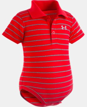 Boys' Newborn UA Stripe Polo Bodysuit  3  Colors Available $22