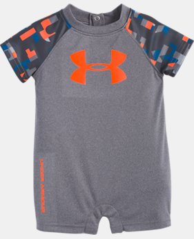 Boys' Newborn UA Wordmark Big Logo Shortall  1  Color Available $23