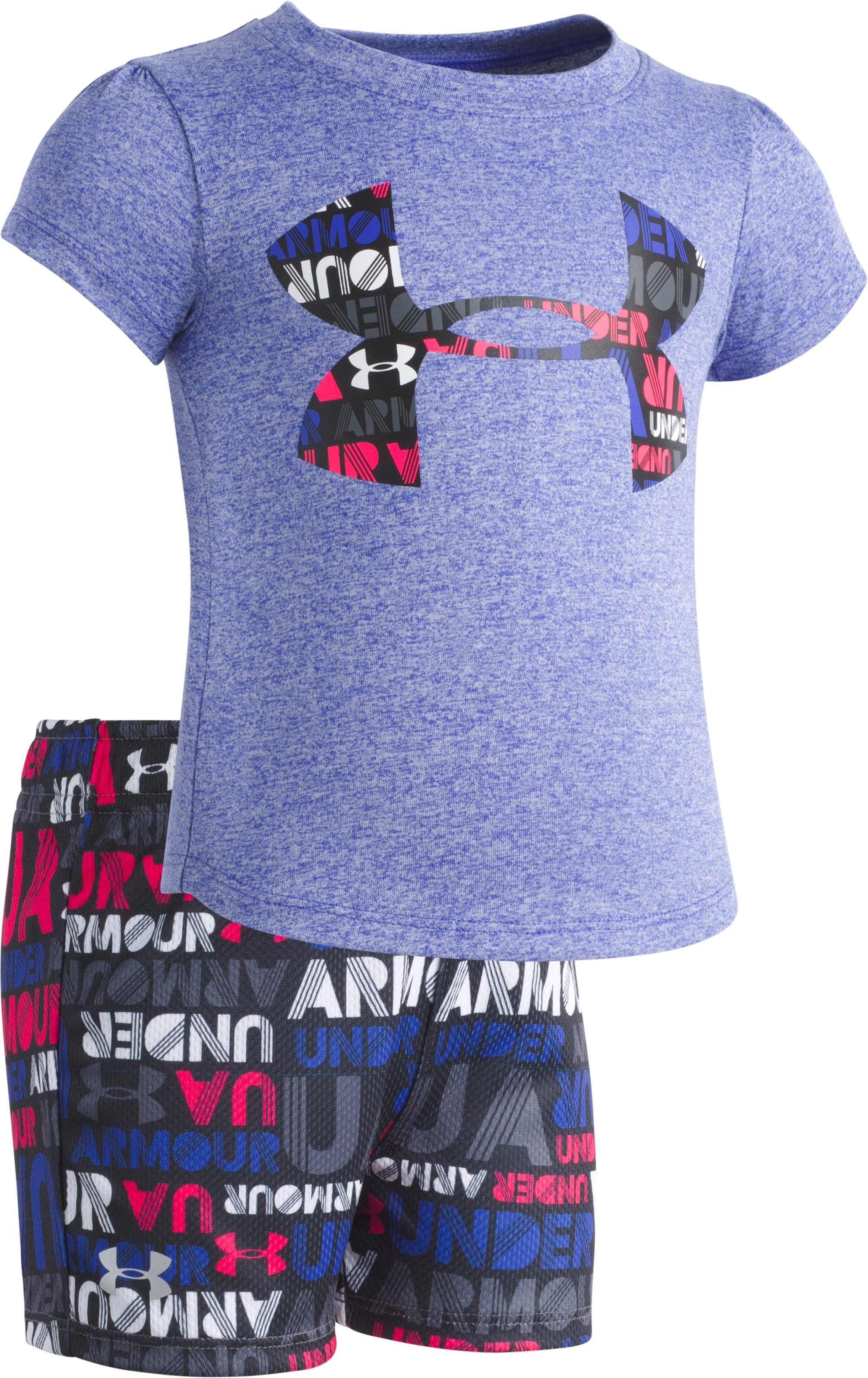 Girls' Infant UA Big Logo Set , CONSTELLATION PURPLE