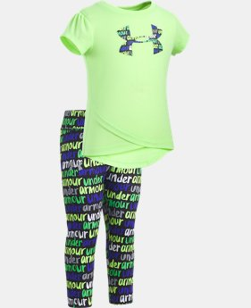 New Arrival  Girls' Infant UA Big Logo Set   1  Color Available $40