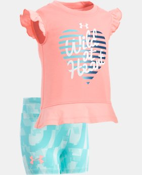 New Arrival Girls' Infant UA Wild At Heart Set  FREE U.S. SHIPPING 1  Color Available $33
