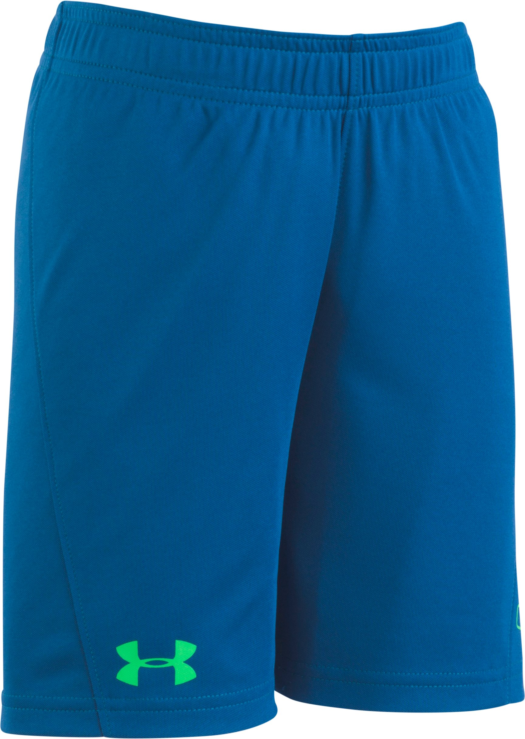Boys' Infant UA Kick Off Solid Short , Moroccan Blue, Laydown