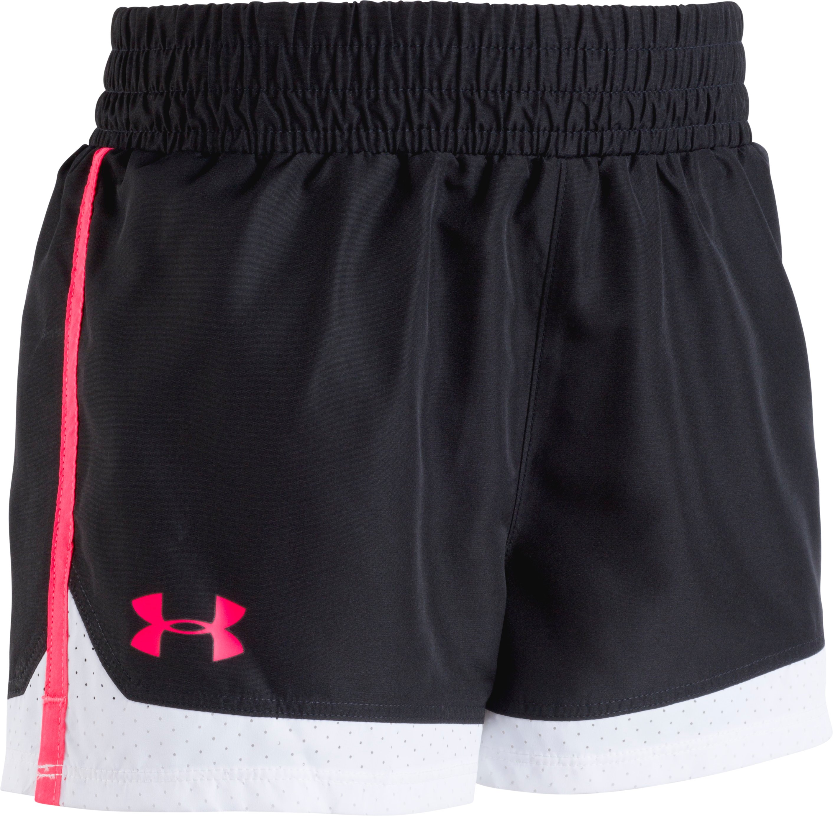 Girls' Toddler UA New Run Shorts, Black