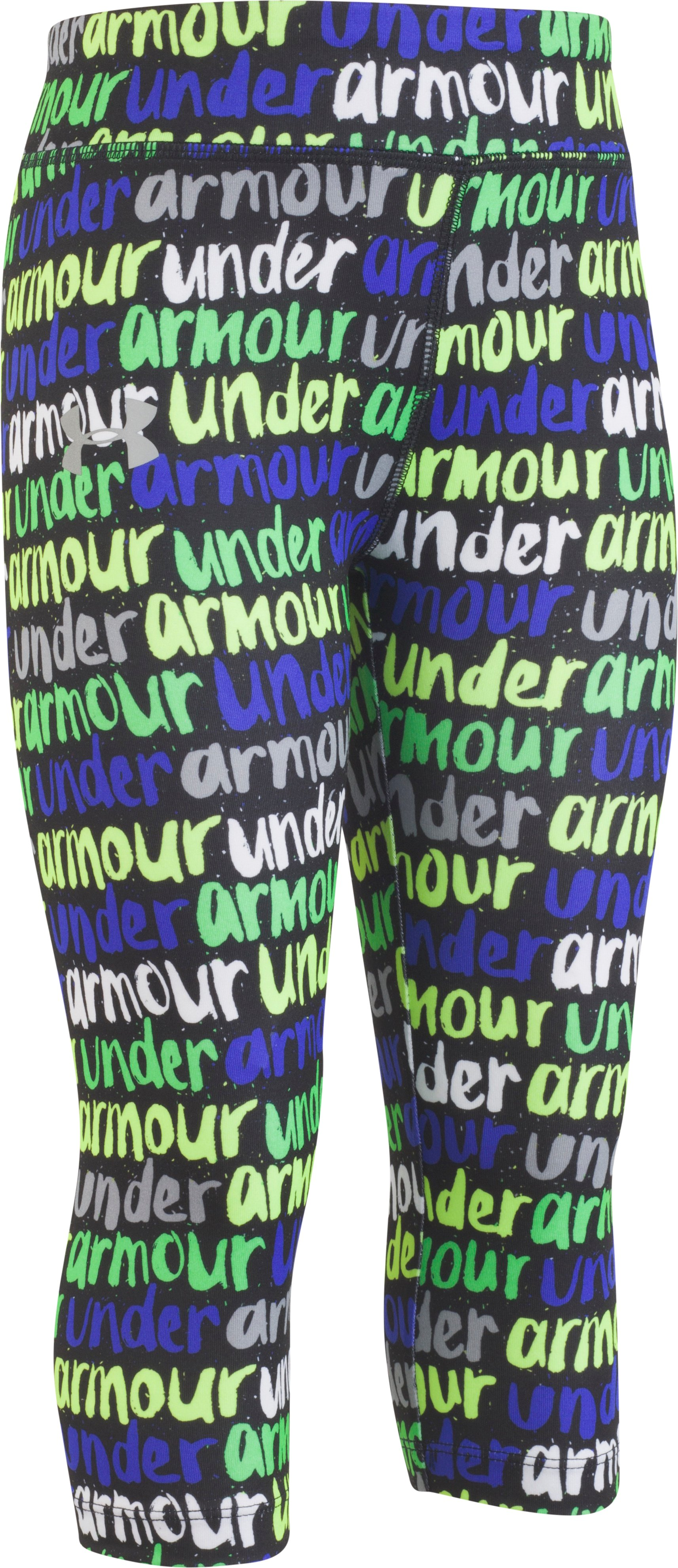 Girls' Infant UA Brushmark Capris, Black , zoomed