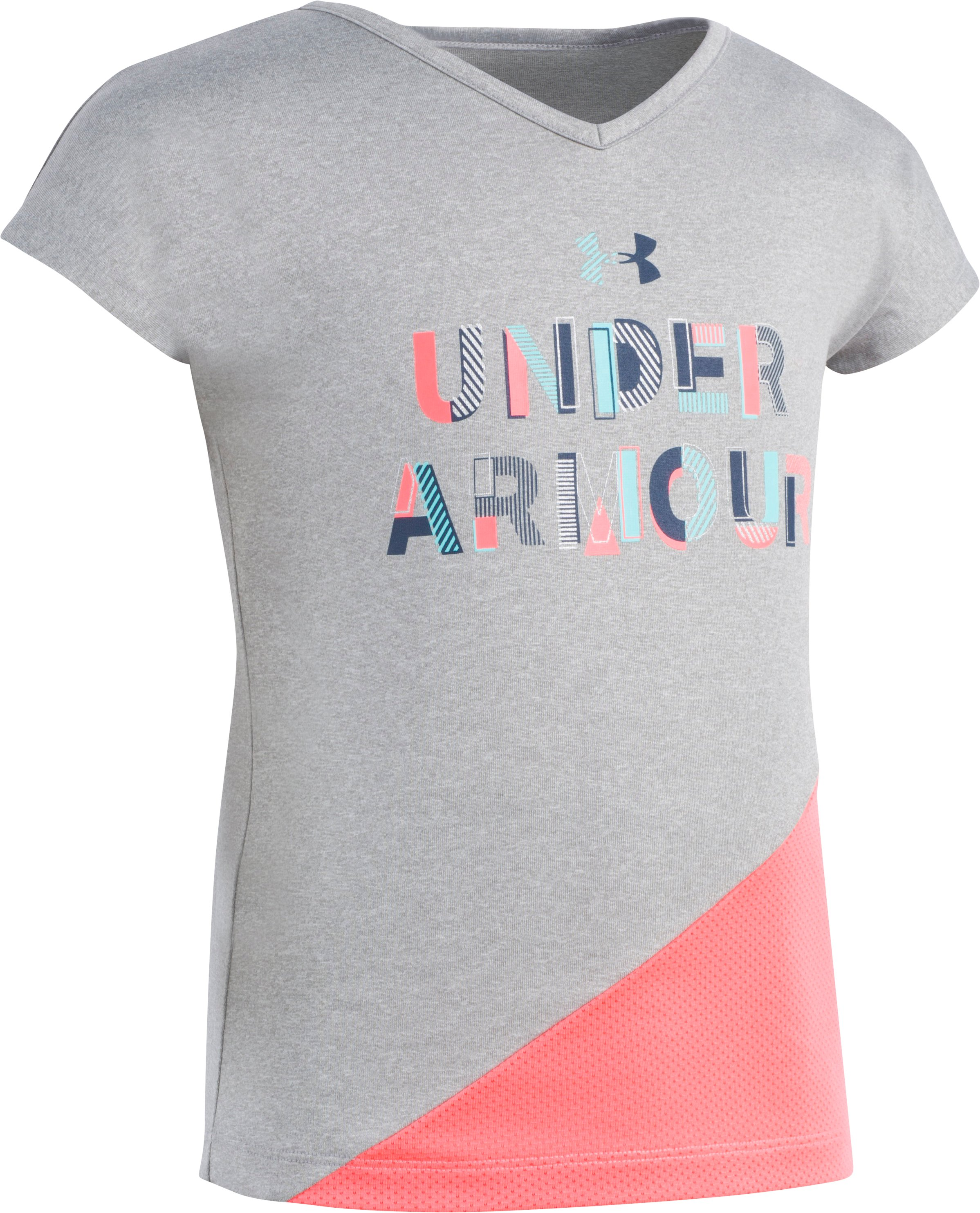 Girls' Infant UA T-Shirt , STEEL MEDIUM HEATHER, Laydown
