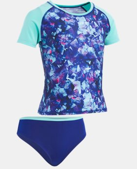Girls' UA Metaquartz Rashguard Set  1  Color Available $40