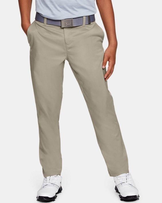 Boys UA Match Play 2.0 Golf Pants, Brown, pdpMainDesktop image number 1