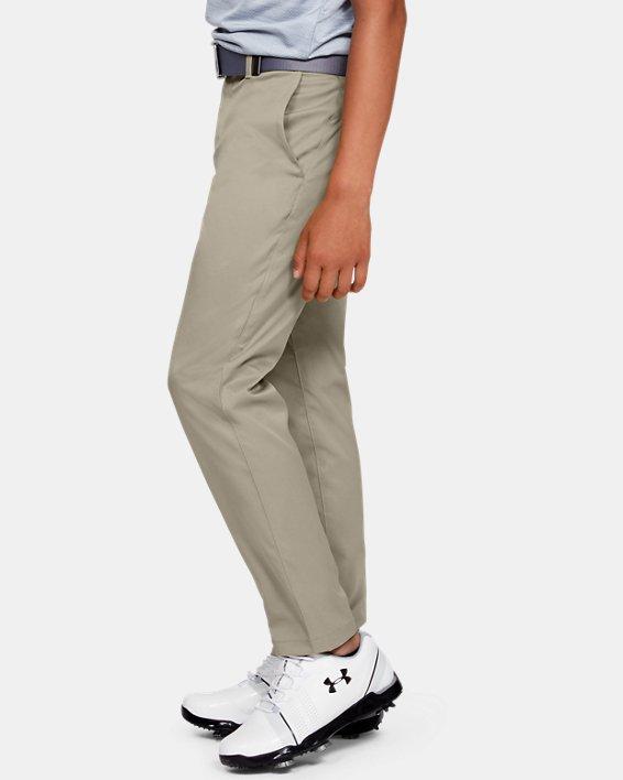 Boys UA Match Play 2.0 Golf Pants, Brown, pdpMainDesktop image number 3