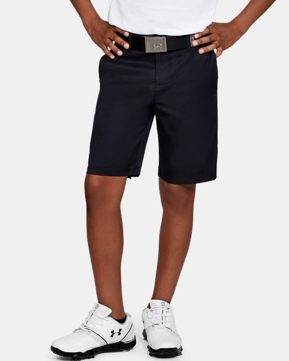 Boys' UA Match Play 2.0 Golf Shorts, Black, pdpMainDesktop image number 0