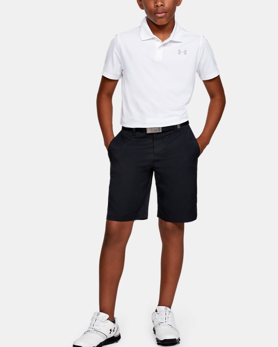 Boys' UA Match Play 2.0 Golf Shorts, Black, pdpMainDesktop image number 1