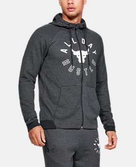 New Arrival Men's UA x Project Rock Double Knit Full Zip Hoodie  1  Color Available $80