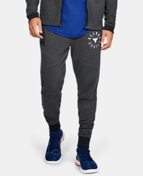 New Arrival Men's UA x Project Rock Double Knit Joggers  1  Color Available $70