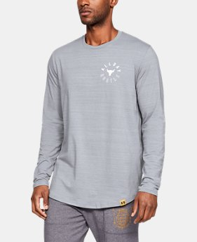 New Arrival Men's UA x Project Rock All Day Hustle Long Sleeve Shirt  1  Color Available $40