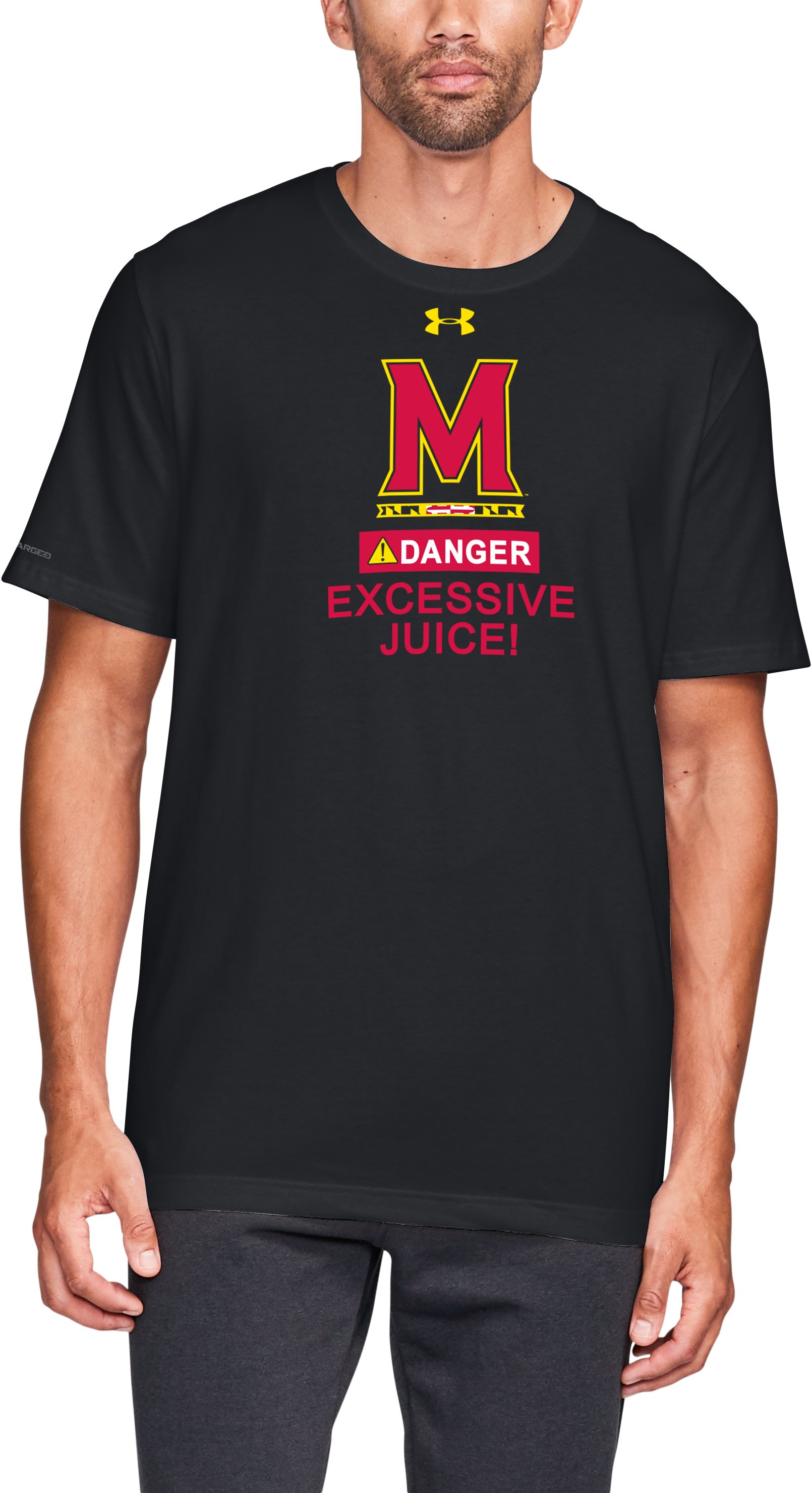 Men's Maryland Cotton T-Shirt, Black , zoomed