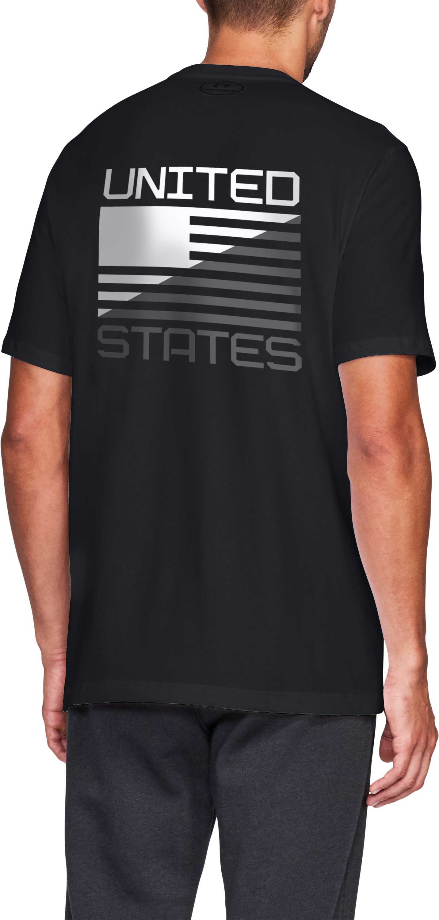 Men's UA USA Graphic T, Black , zoomed