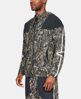 New Arrival Men's UA Sportstyle Windsuit Jacket Print  2  Colors Available $100