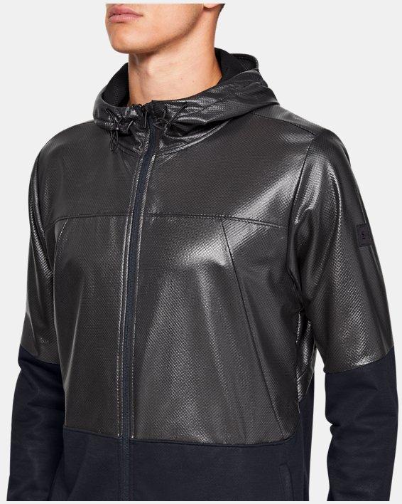 Men's UA Hybrid Windbreaker Jacket, Black, pdpMainDesktop image number 6