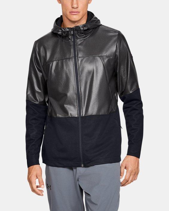 Men's UA Hybrid Windbreaker Jacket, Black, pdpMainDesktop image number 0