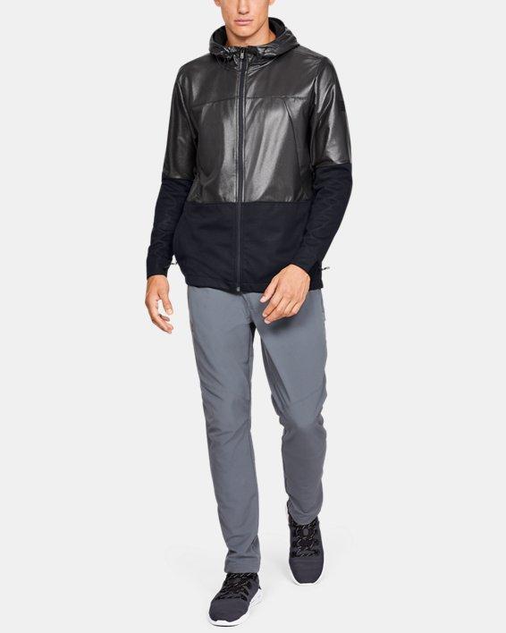 Men's UA Hybrid Windbreaker Jacket, Black, pdpMainDesktop image number 1