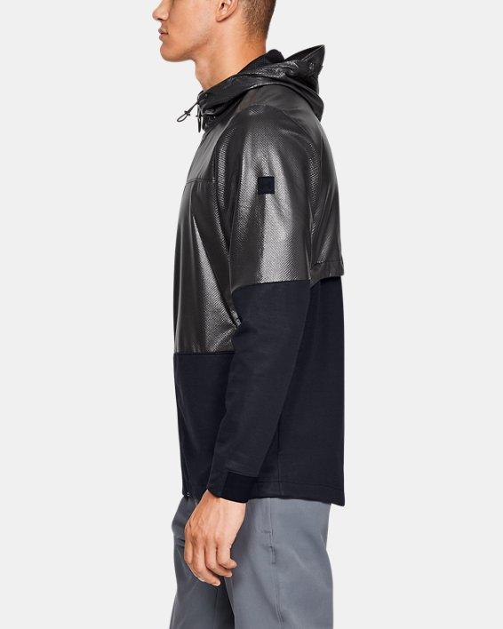 Men's UA Hybrid Windbreaker Jacket, Black, pdpMainDesktop image number 3