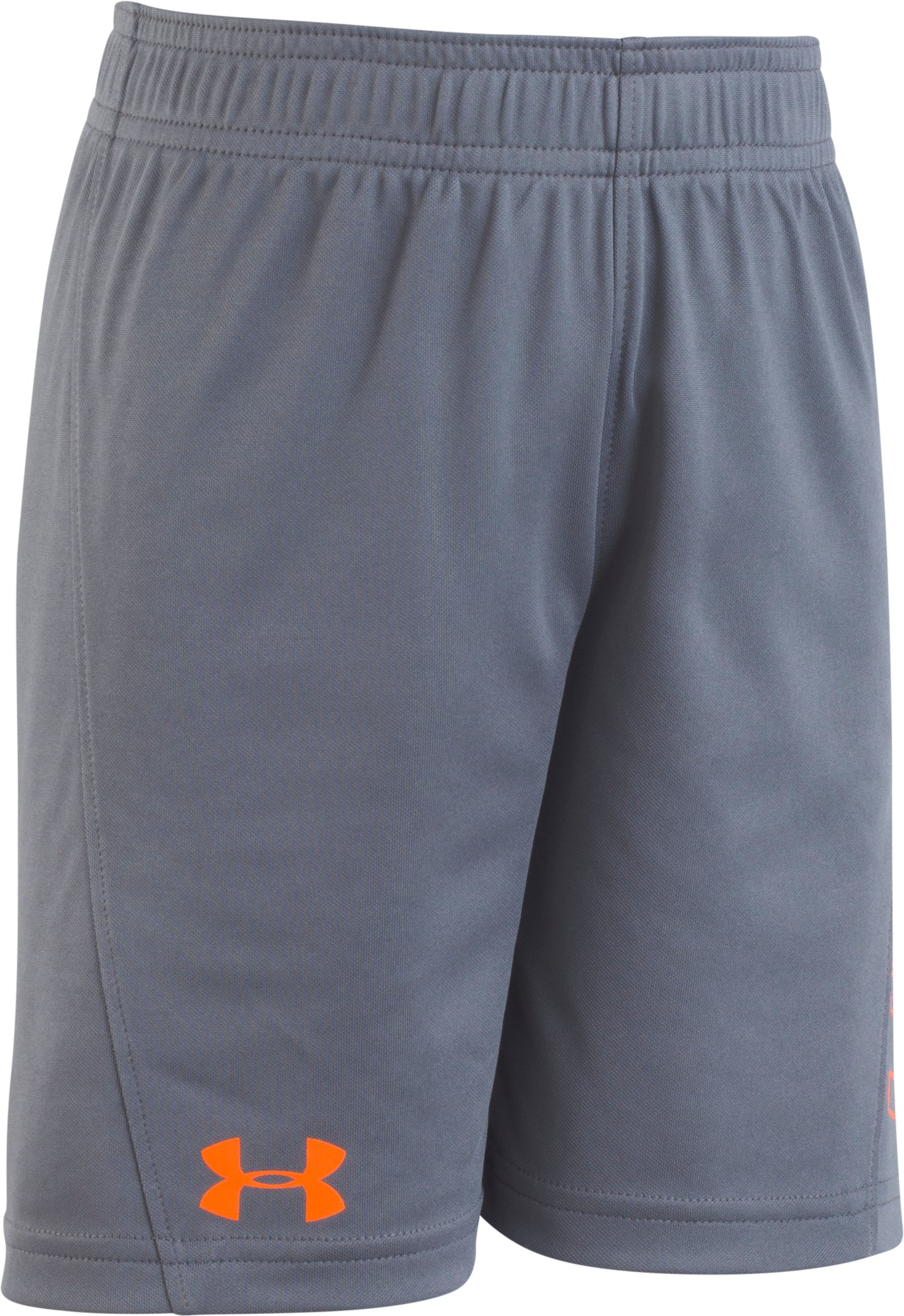 Boys' Pre-School UA Kick Off Short , Graphite, Laydown
