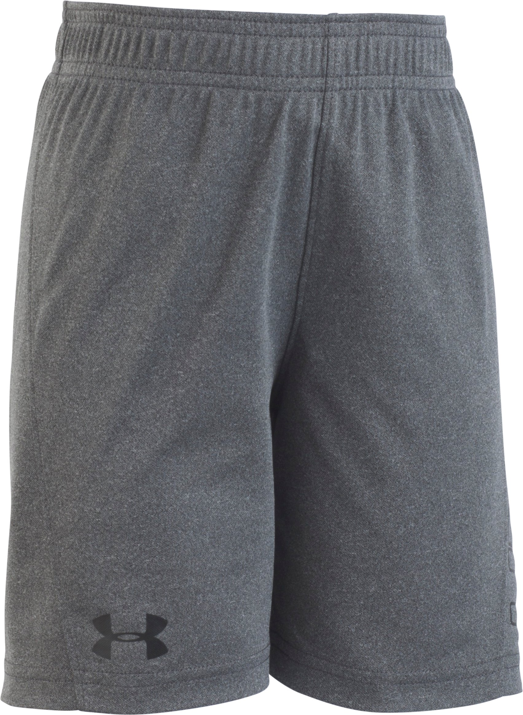 Boys' Toddler UA Kick Off Solid Short , Charcoal Medium Heather, Laydown