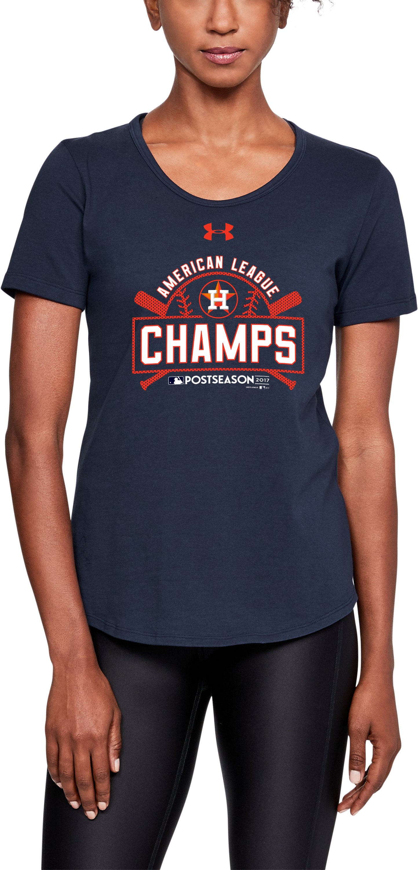 Women's Houston Astros League Champs T-Shirt, Midnight Navy,