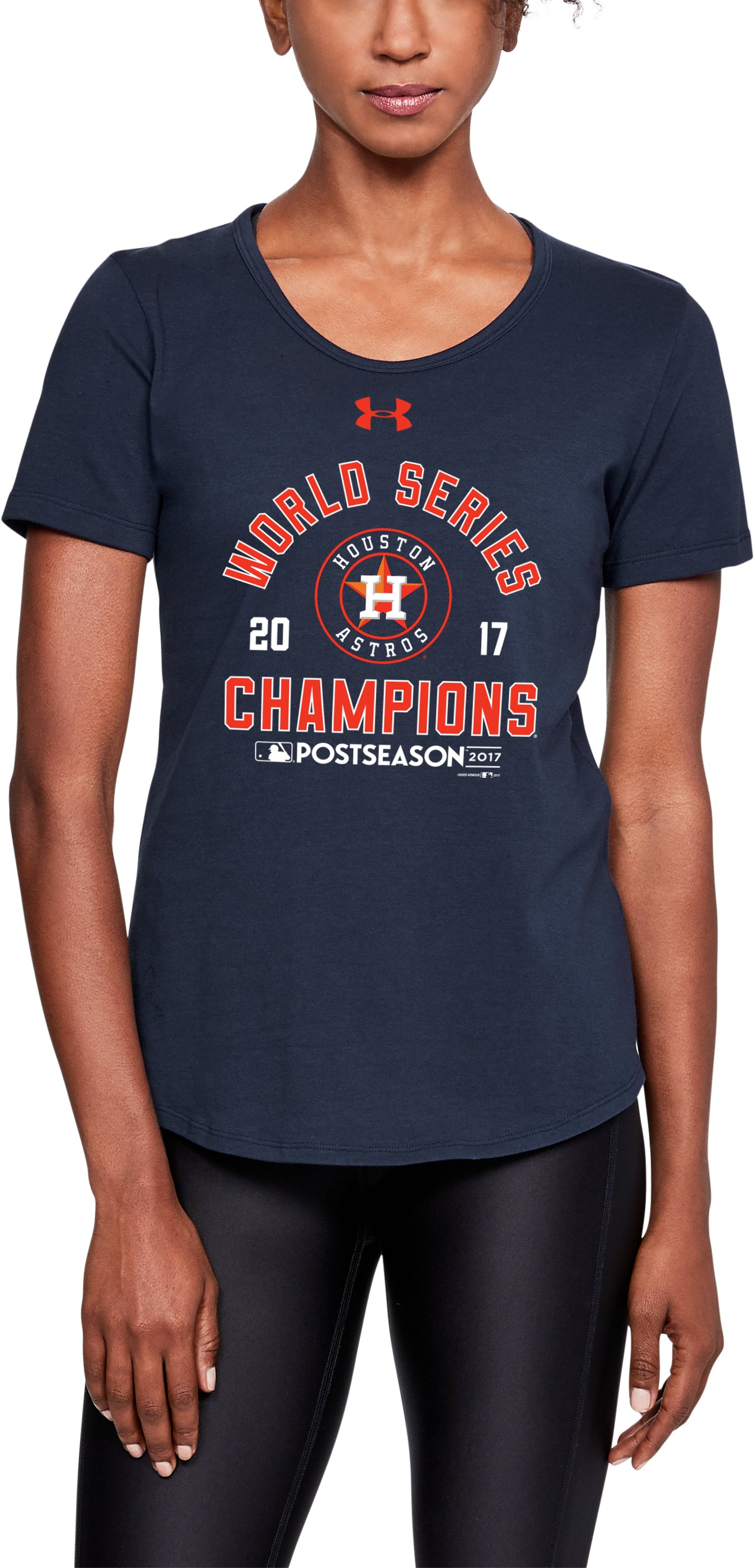 Women's Houston Astros World Series Champs T-Shirt, Midnight Navy, zoomed