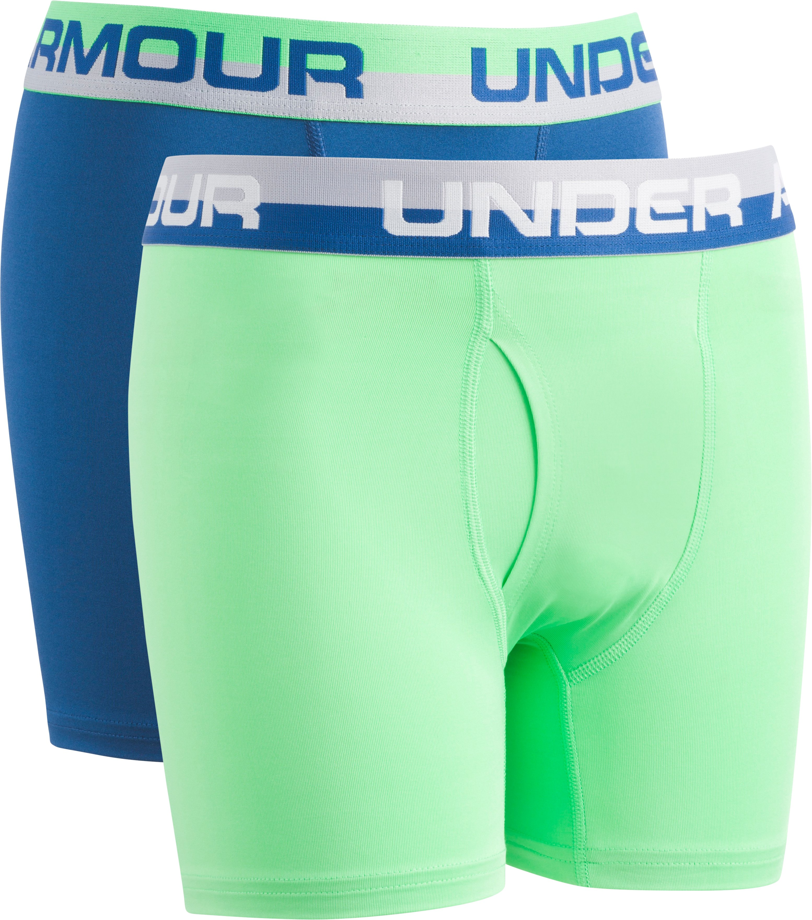 2 Pack Solid Performance Boxer Set, Arena Green, zoomed