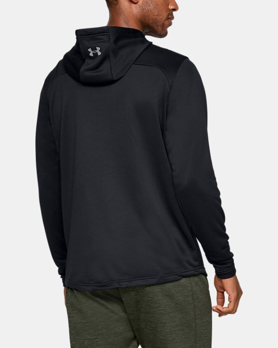 Men's UA Tech Terry Camo Fill Hoodie, Black, pdpMainDesktop image number 2