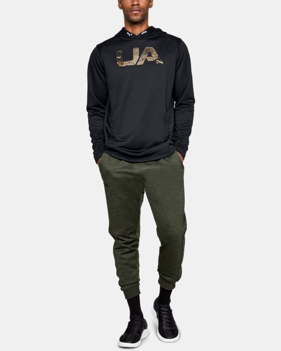 Men's UA Tech Terry Camo Fill Hoodie, Black, pdpMainDesktop image number 1