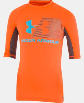 New Arrival Boys' Pre-School UA H2O Reveal Short Sleeve Rashguard FREE U.S. SHIPPING 1  Color Available $27