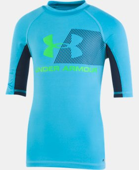 Boys' Infant UA H2O Reveal Short Sleeve Rashguard  1  Color Available $25