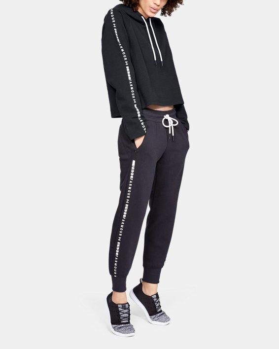 Women's UA Microthread Fleece Hoodie, Black, pdpMainDesktop image number 1