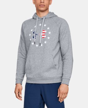 Best Seller Men's UA Freedom Rival Fleece Logo Hoodie  2  Colors Available $50