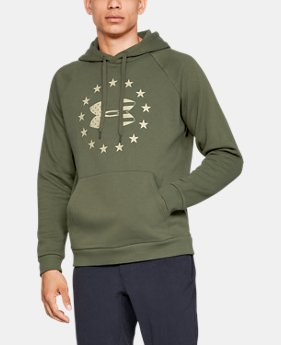 New Arrival Men's UA Freedom Rival Fleece Logo Hoodie  1  Color Available $50