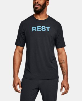 New Arrival Men's Athlete Recovery Ultra Comfort Sleepwear REST Graphic T-Shirt  1  Color Available $80