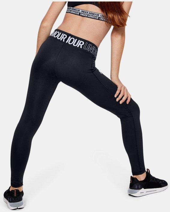 Girls' HeatGear® Armour Leggings, Black, pdpMainDesktop image number 3