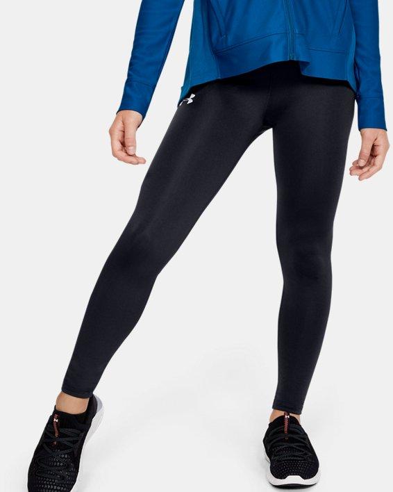 Girls' HeatGear® Armour Leggings, Black, pdpMainDesktop image number 2