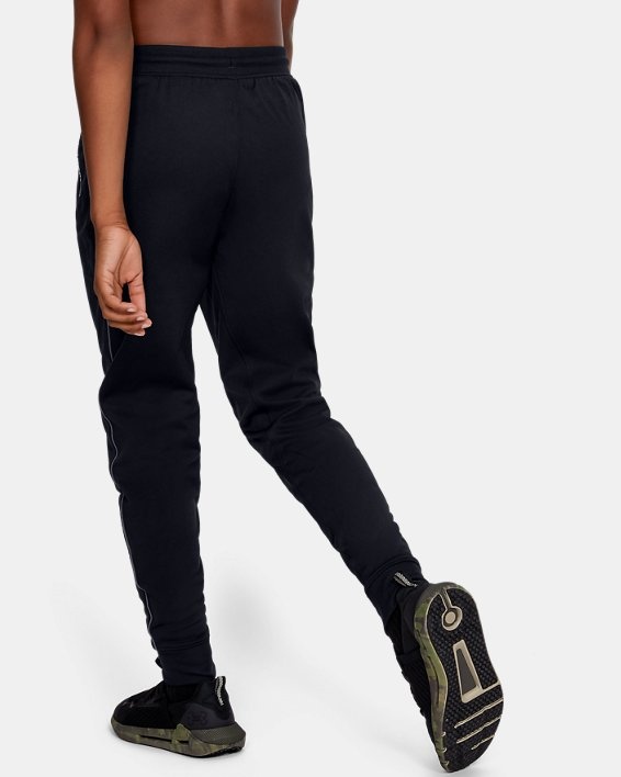 Boys' UA Pennant Tapered Pants, Black, pdpMainDesktop image number 2