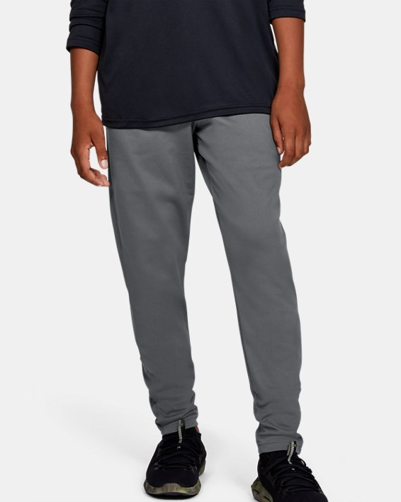 Boys' UA Brawler 2.0 Tapered Pants, Gray, pdpMainDesktop image number 0