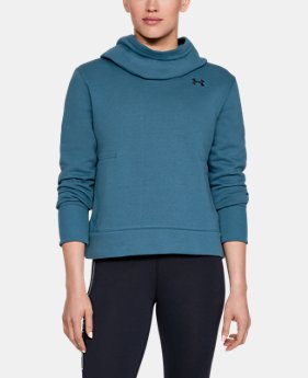 Women's UA Cotton Fleece Logo Hoodie  1  Color Available $45
