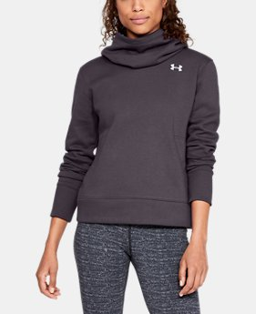 Women's UA Cotton Fleece Logo Hoodie  5  Colors Available $45
