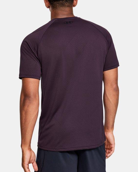Men's UA Velocity 2.0 Jacquard Short Sleeve, Purple, pdpMainDesktop image number 2