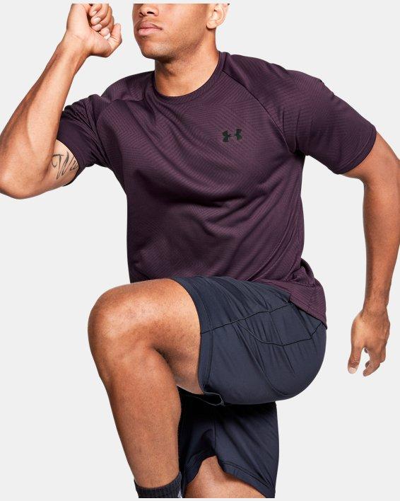 Men's UA Velocity 2.0 Jacquard Short Sleeve, Purple, pdpMainDesktop image number 0