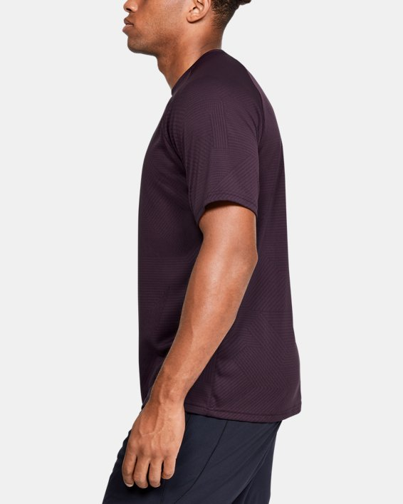 Men's UA Velocity 2.0 Jacquard Short Sleeve, Purple, pdpMainDesktop image number 3